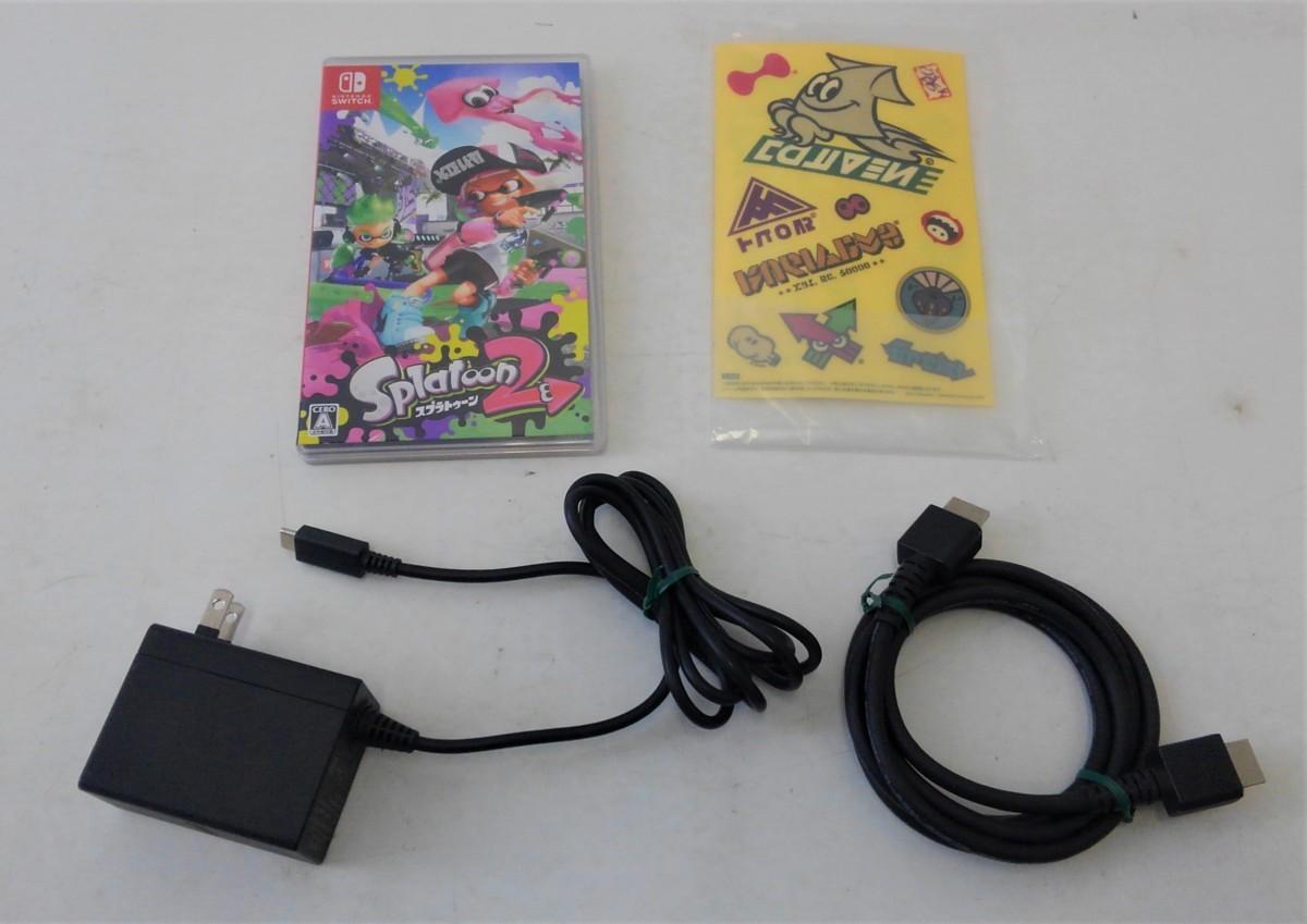 【中古品】 Nintendo Switch スプラトゥーン2セット ニンテンドースイッチ 本体 【034-210213-DS-06-IZU】_画像5
