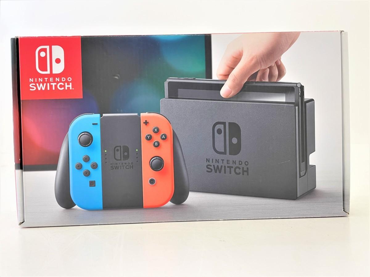 【中古】 Nintendo Switch 本体 ニンテンドースイッチ Joy-Con (L) ネオンブルー/ (R) ネオンレッド 【034-210208-ST-02-IZU】