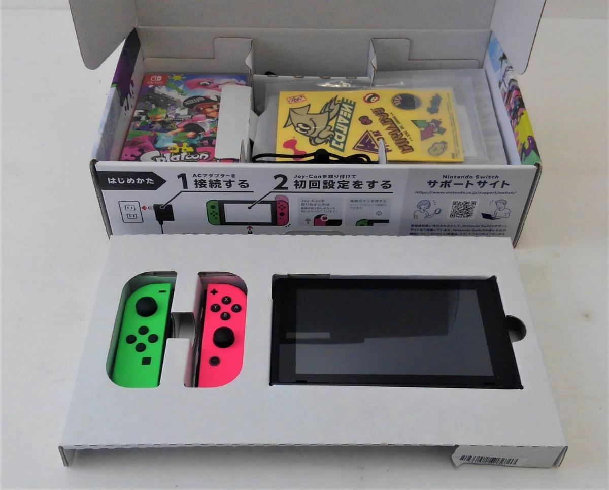 【中古品】 Nintendo Switch スプラトゥーン2セット ニンテンドースイッチ 本体 【034-210213-DS-06-IZU】_画像2