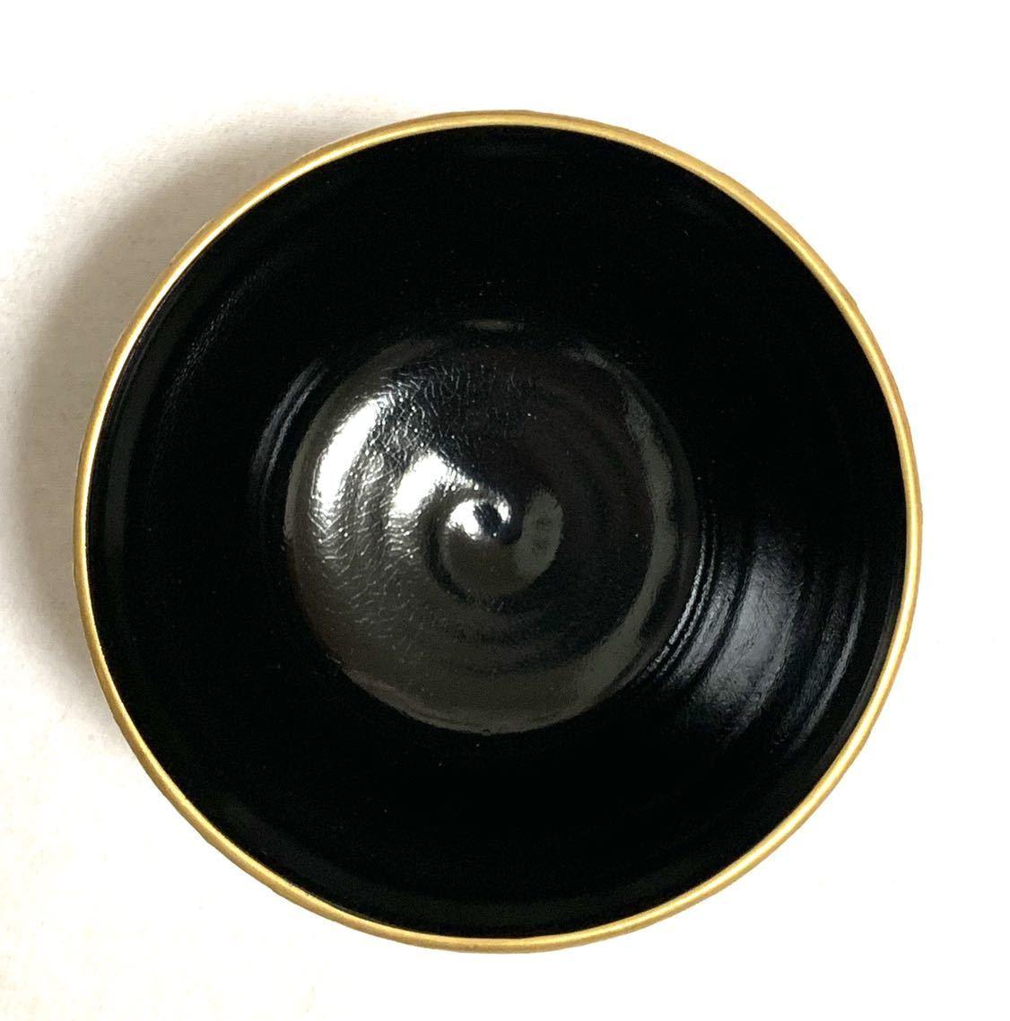 【未使用品】19 茶道具 昇 茶碗 茶道 色絵 お茶 道具 陶器 焼物 京焼 茶器 抹茶碗 骨董 伝統 工芸 作家 陶芸 在銘 華やか 器_画像6