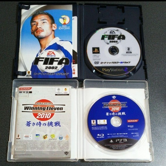 PS3 ウイニングイレブン 2010 蒼き侍の挑戦とPS2 FIFA2002