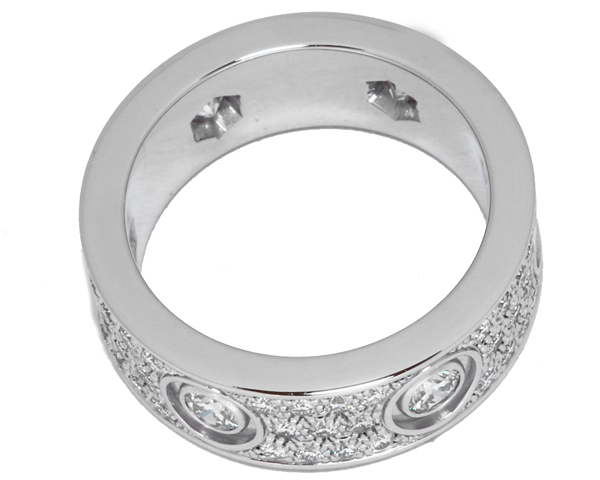 カルティエ K18WG ダイヤ72P 1.12ct ラブリング フルダイヤ パヴェダイヤ N42104 指輪(リング)_画像4