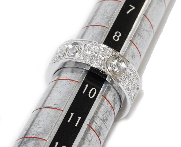 カルティエ K18WG ダイヤ72P 1.12ct ラブリング フルダイヤ パヴェダイヤ N42104 指輪(リング)_画像2