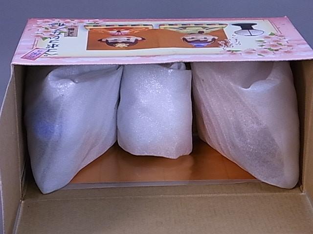 #8-1【不二家】首振り!!ペコポコ ひな人形*未使用品 陶器人形_画像9