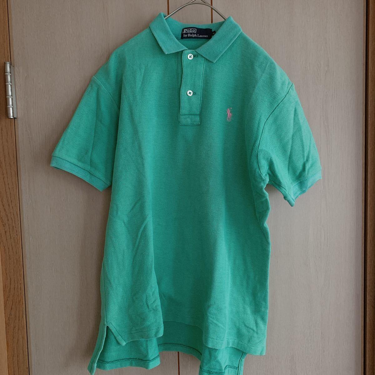 ポロラルフローレン ポニー刺繍鹿の子ポロシャツ