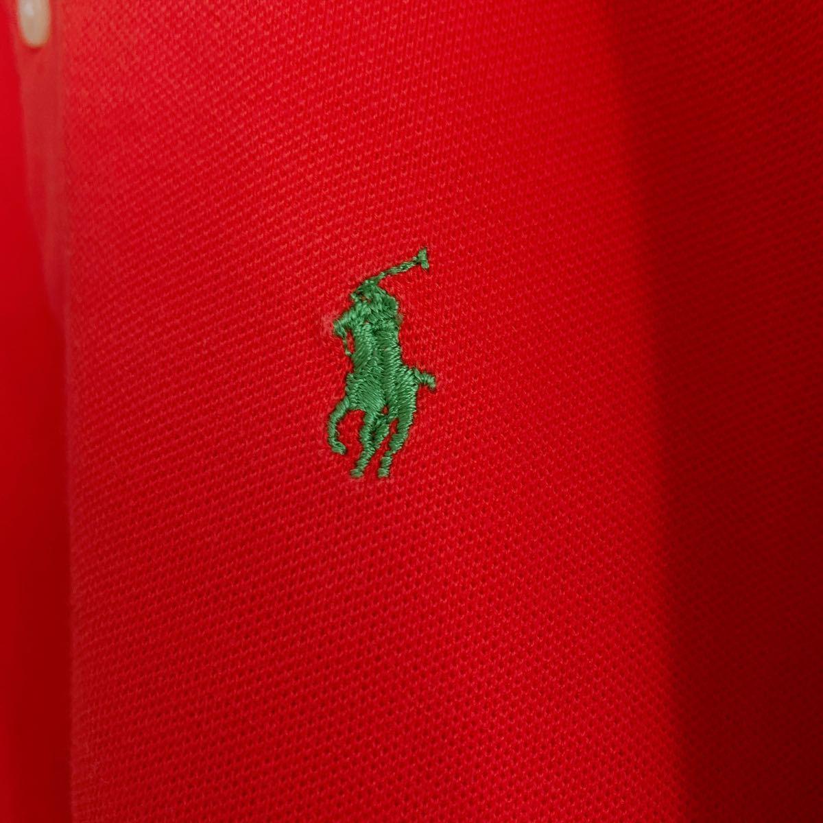 ポロラルフローレン フロント刺繍ポロシャツ