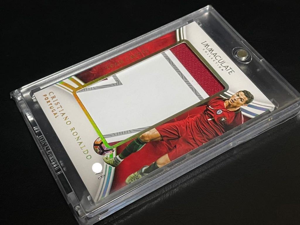 2017 panini immaculate collection soccer CRISTIANO RONALDO team crests /8 jumbo patch 良部_画像2