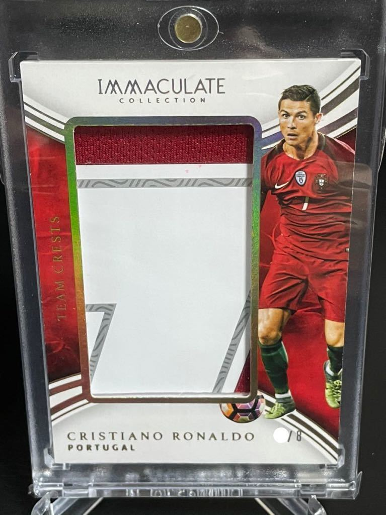 2017 panini immaculate collection soccer CRISTIANO RONALDO team crests /8 jumbo patch 良部_画像1