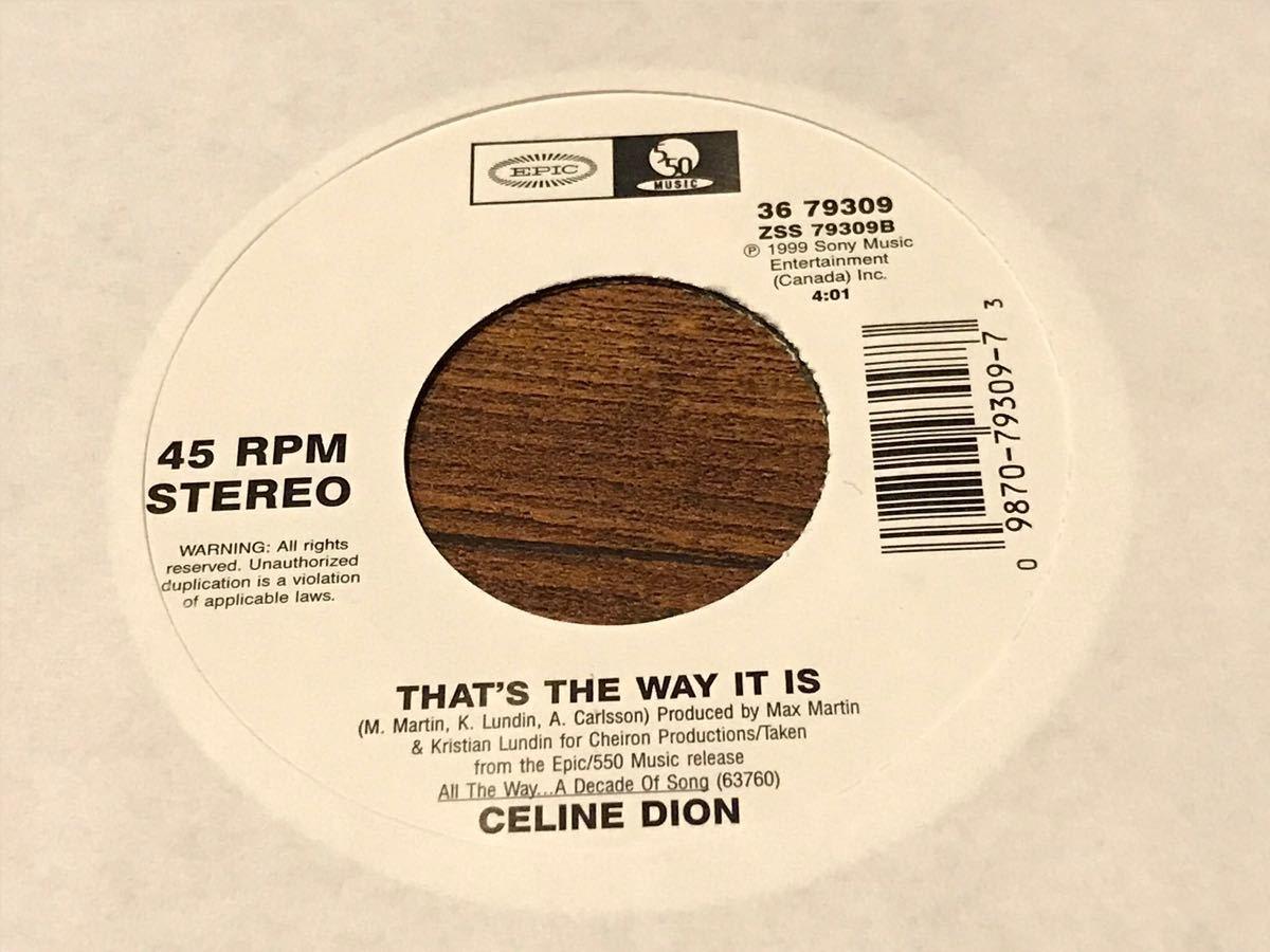 希少盤!CELINE DION / セリーヌ・ディオン 「THAT'S THE WAY IT IS」 7インチアナログ盤 EP
