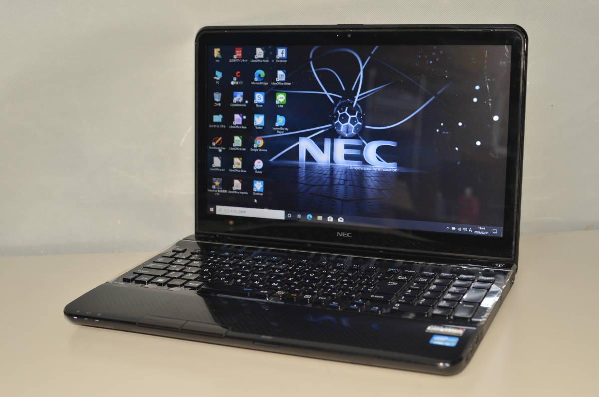 最新Windows10+office 新品爆速SSD240GB NEC LS550/L core i5/4GB/15.6インチ/ブルーレイ/USB3.0/HDMI/無線/テンキー/便利なソフト多数_画像1