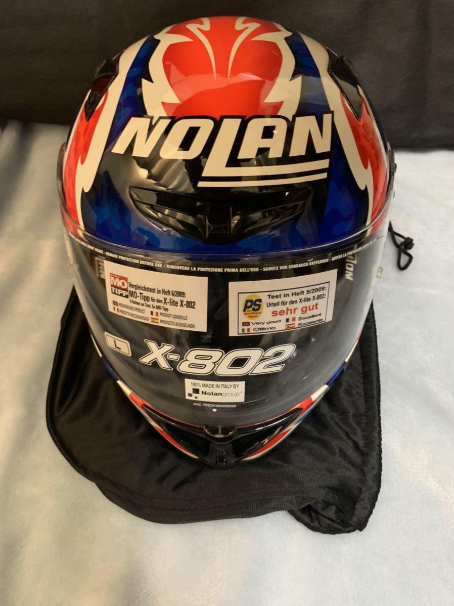 MotoGP Casey Stoner ケーシー ストーナー 直筆サイン入り ヘルメット Nolan x-802 サイズL マルボロ 非売品 懸賞_画像2