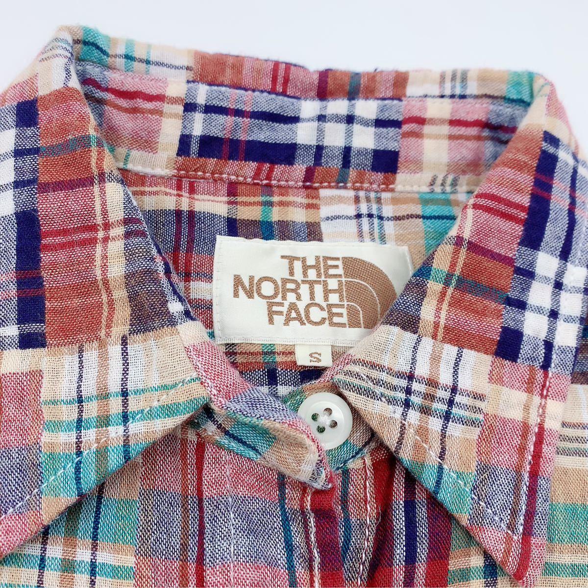 ザノースフェイス the north face  チェックシャツ 半袖