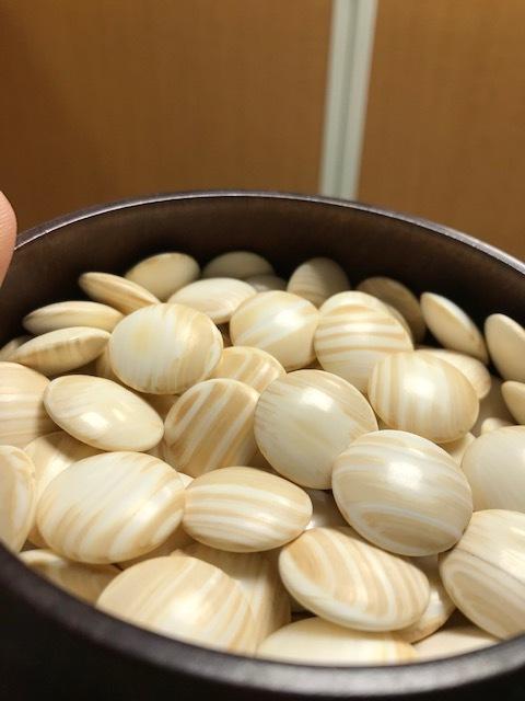 囲碁 碁石 蛤 木箱