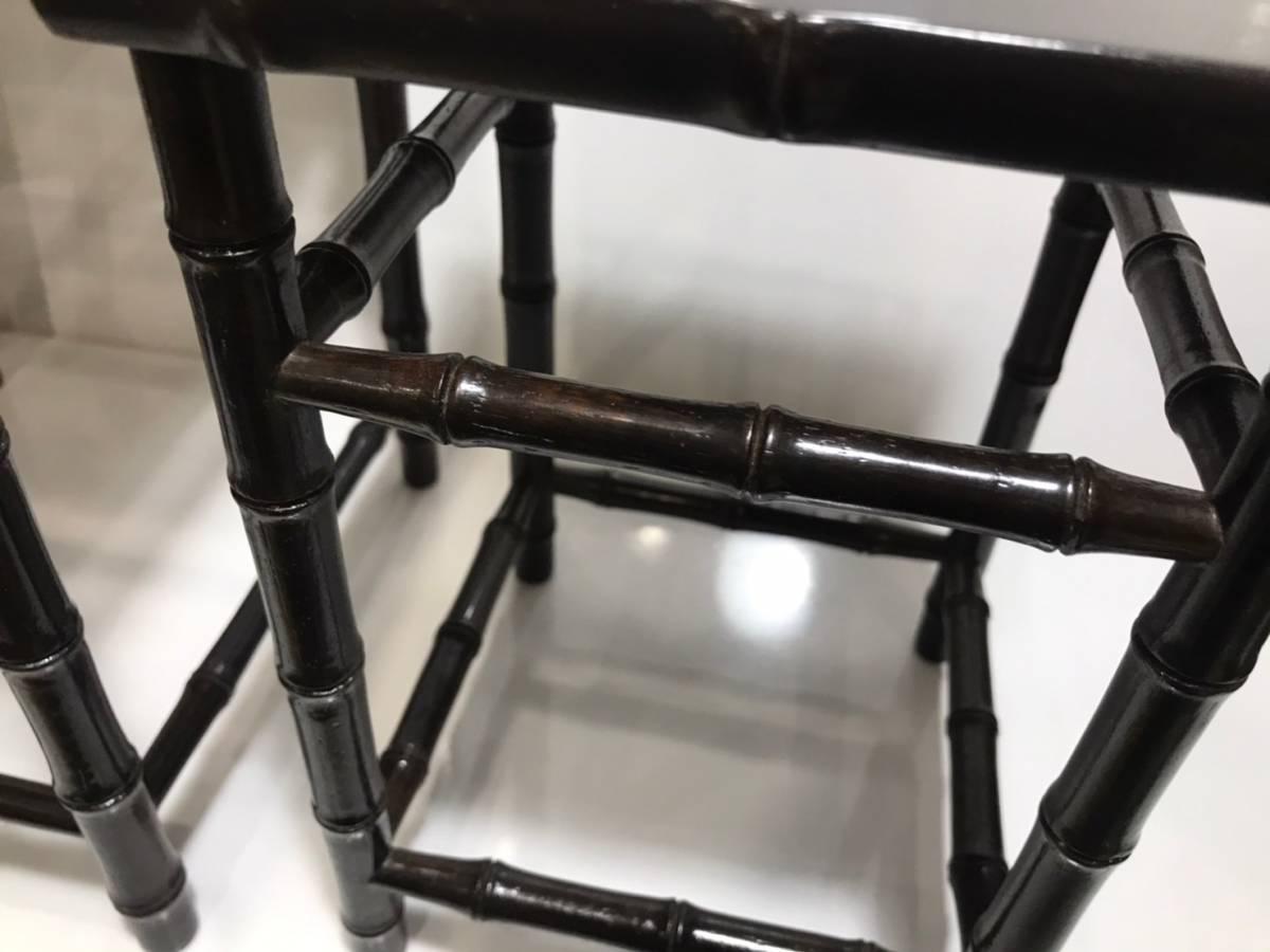 ◆◇ 木造り 竹 花台 三重 高炉台 高台 ◇◆_画像6