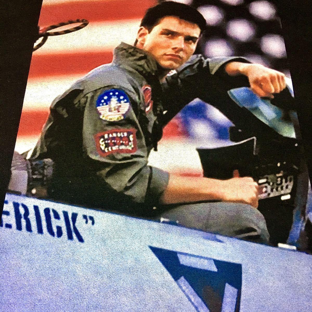 新品 トップガン トムクルーズ アメリカ 空軍 戦闘機 星条旗 黒 パーカー XS S M L XL ビッグ オーバー サイズ XXL XXXL ジップアップ 可_画像6