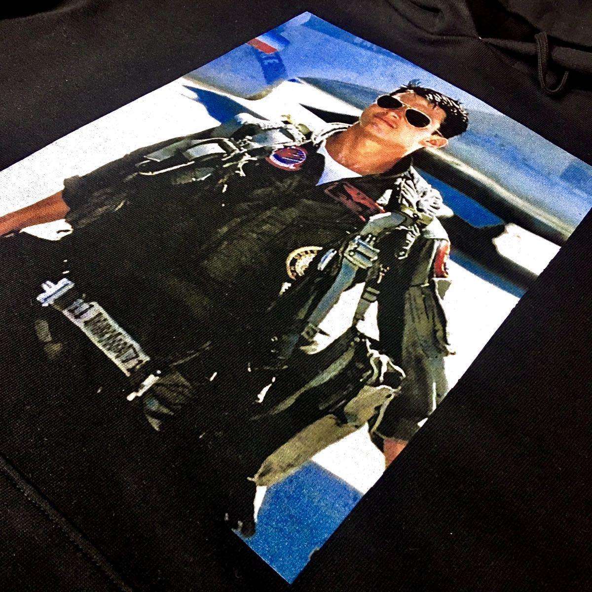 新品 トップガン トムクルーズ サングラス US AIR FORCE F-14 黒 パーカー XS S M L XL ビッグ オーバー サイズ XXL ジップアップ ロンT 可_画像7