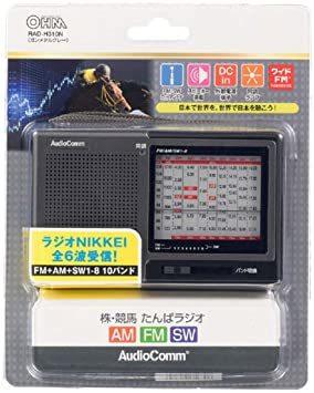 シルバー オーム電機 株・競馬ハンディたんぱラジオ ダークグレー 幅125&高さ76&奥行30.5mm _画像2