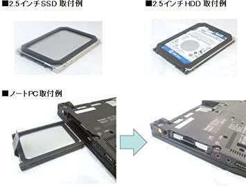 玄人志向 7mm → 9.5mm厚に変換 2.5インチHDD/SSDスペーサー KRSP-795_画像2