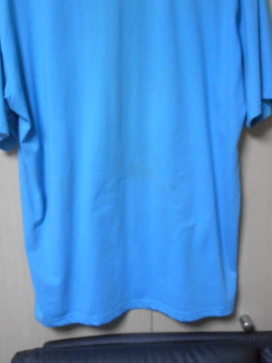 ラスト【即決=700円・送料無料】★訳あり格安★Perfume【PTA★ファンクラブ・Tシャツ】★サイズ=XL★ブルー★中古_見にくいですが下部にシミあり