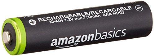 ベーシック 充電池 充電式ニッケル水素電池 単4形8個セット (最小容量750mAh、約1000回使用可能)_画像3