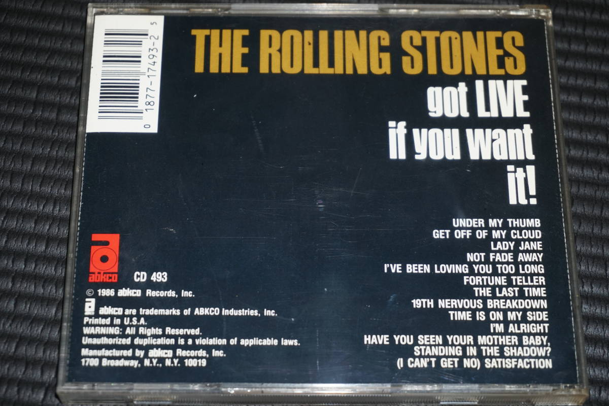 ◆The Rolling Stones◆ ローリング・ストーンズ Got Live If You Want It CD 輸入盤 ライブ