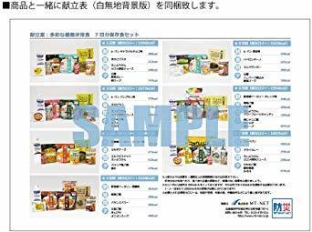 MT-NET 非常食 保存食セット 5年保存 【 7日分 全55品 】 献立表付き 〔防災グッズ〕_画像7