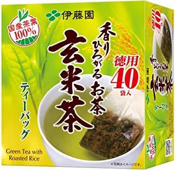 伊藤園 香りひろがるお茶 玄米茶 ティーバッグ 40袋_画像1