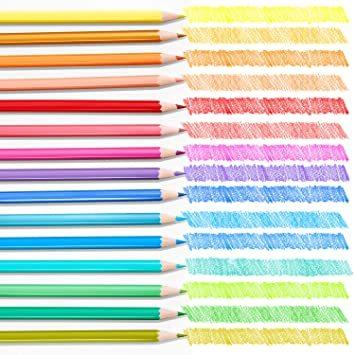 Theefun 色鉛筆 48色 六角軸 鉛筆けずり 収納ケース カラーリスト付き_画像3