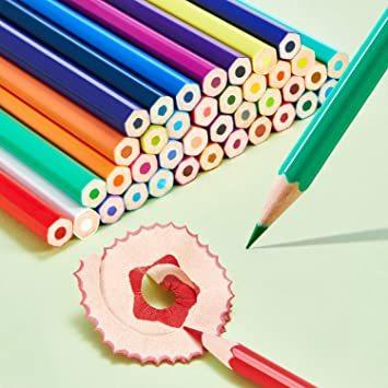 Theefun 色鉛筆 48色 六角軸 鉛筆けずり 収納ケース カラーリスト付き_画像5