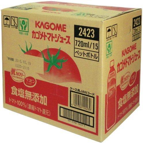 食塩無添加 720ml×15本 カゴメ トマトジュース食塩無添加 スマートPET 720ml×15本[機能性表示食品_画像5