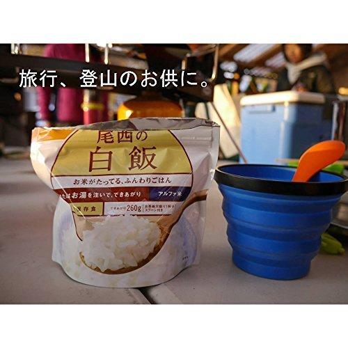 尾西食品 アルファ米 白飯100g×5食_画像4