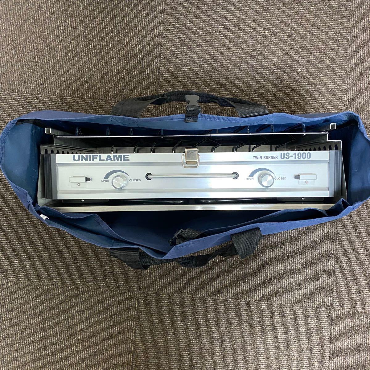 ユニフレーム  ツインバーナーUS-1900&スノーピーク  IGTビルトインアダプター&専用天板2枚&収納バックのセット