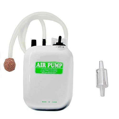 「1.ホワイト AMYSPORTS エアーポンプ 酸素提供ポンプ 携帯式エアーポンプ 釣りポンプ 乾電池式ポンプ ブクブク 逆流防」の画像1
