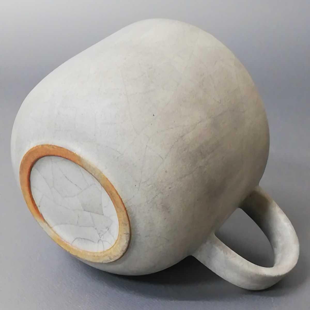 三23)萩焼 コーヒーカップ マグカップ 珈琲器 未使用新品 同梱歓迎_画像5
