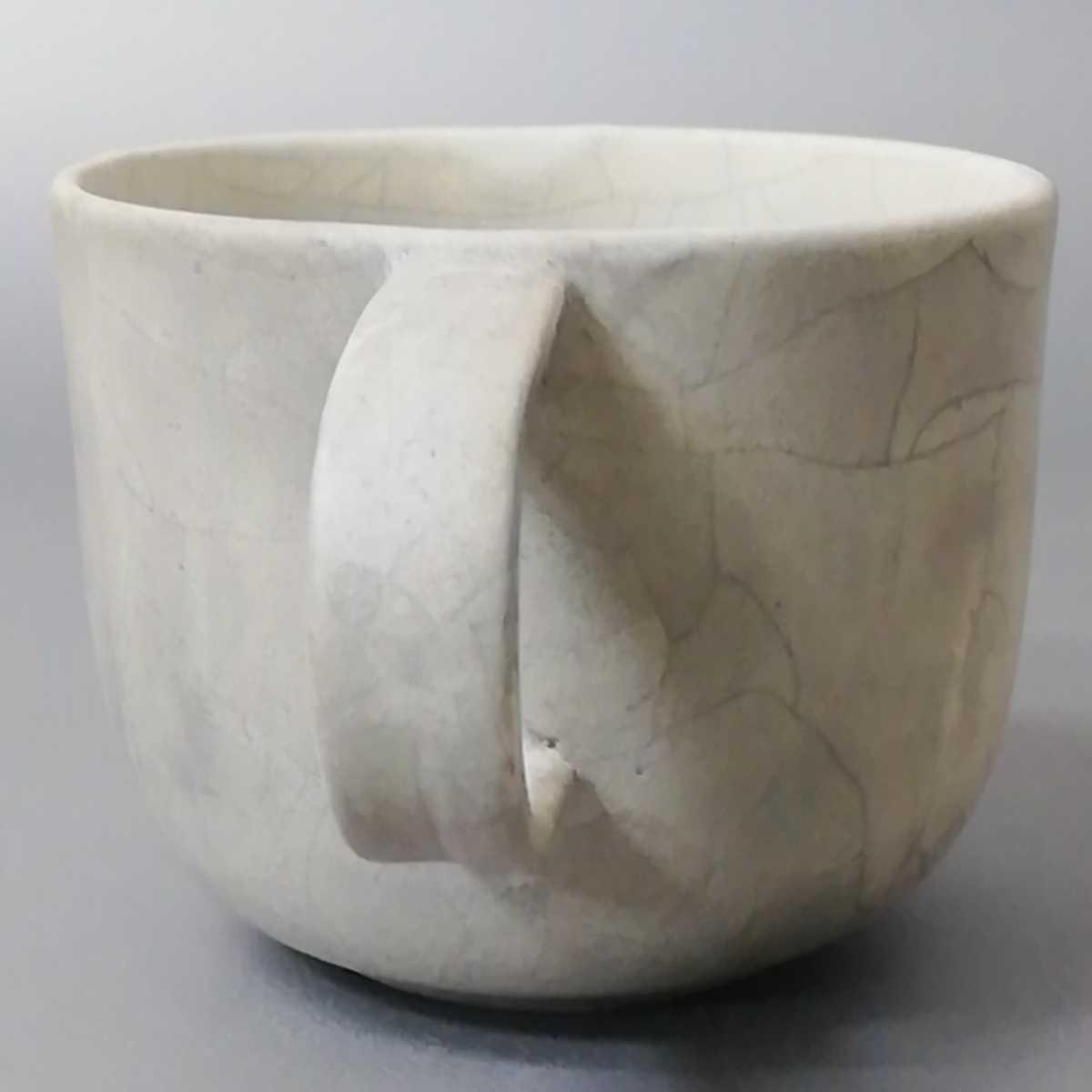 三23)萩焼 コーヒーカップ マグカップ 珈琲器 未使用新品 同梱歓迎_画像2