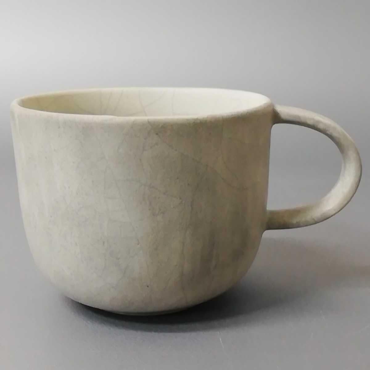 三23)萩焼 コーヒーカップ マグカップ 珈琲器 未使用新品 同梱歓迎_画像1