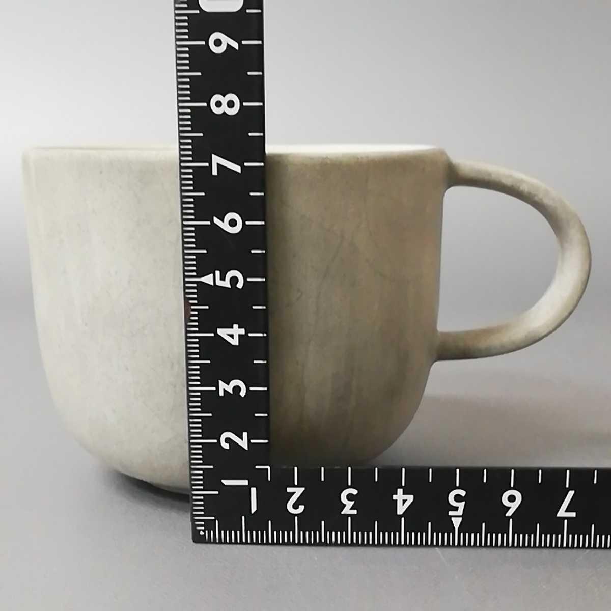三23)萩焼 コーヒーカップ マグカップ 珈琲器 未使用新品 同梱歓迎_画像6