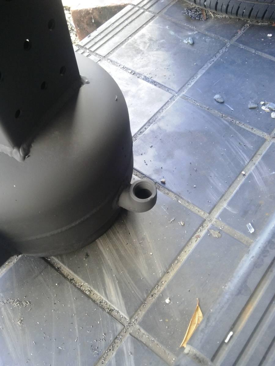 自然吸気 廃油ストーブ 激激熱保証 二次燃焼、三次燃焼!!_給油口