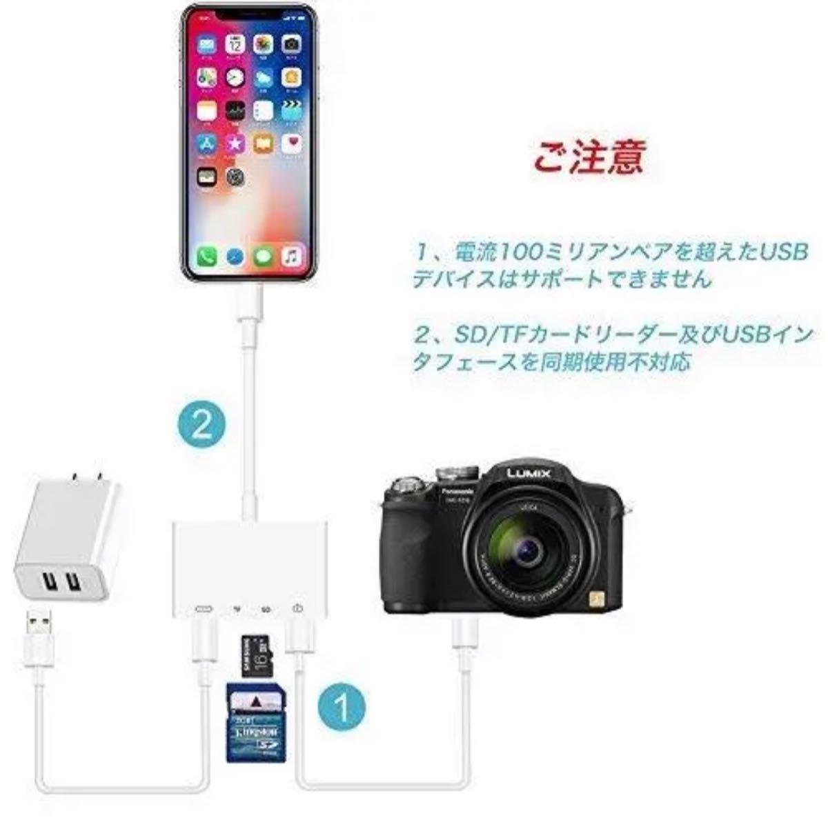 iPhone iPad専用Lightning SDカードカメラリーダー