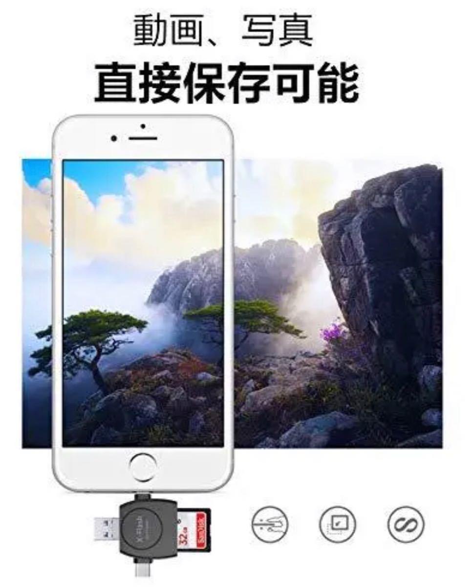 SDカードリーダー iPhone携帯カードリーダー 高品質