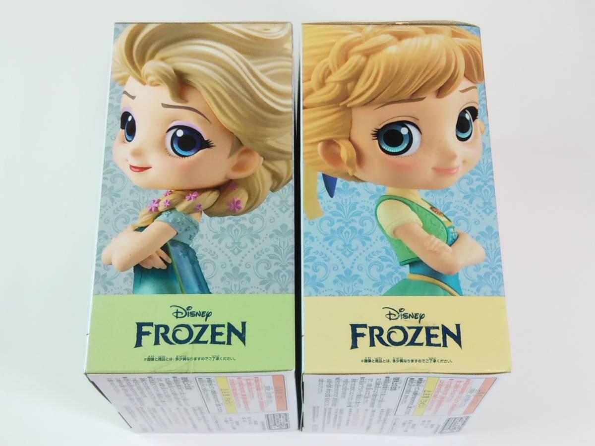 2個セット アナと雪の女王 エルサ フィギュア Qposket Q posket Disney Character Anna Elsa Frozen Fever Design Bレアカラー_画像4