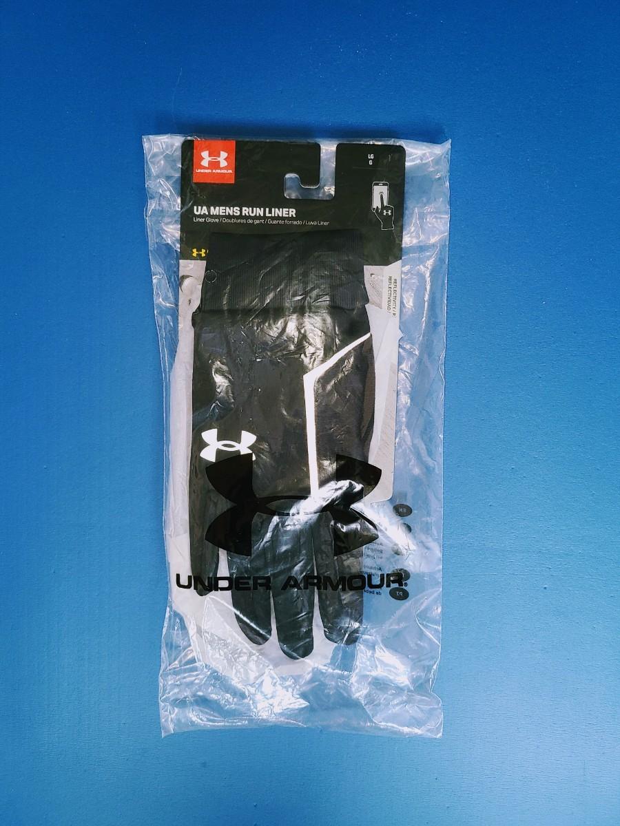 新品未使用 アンダーアーマー UNDER ARMOR ランニング グローブ メンズ L スマホ対応 コールドギア 防寒 手袋