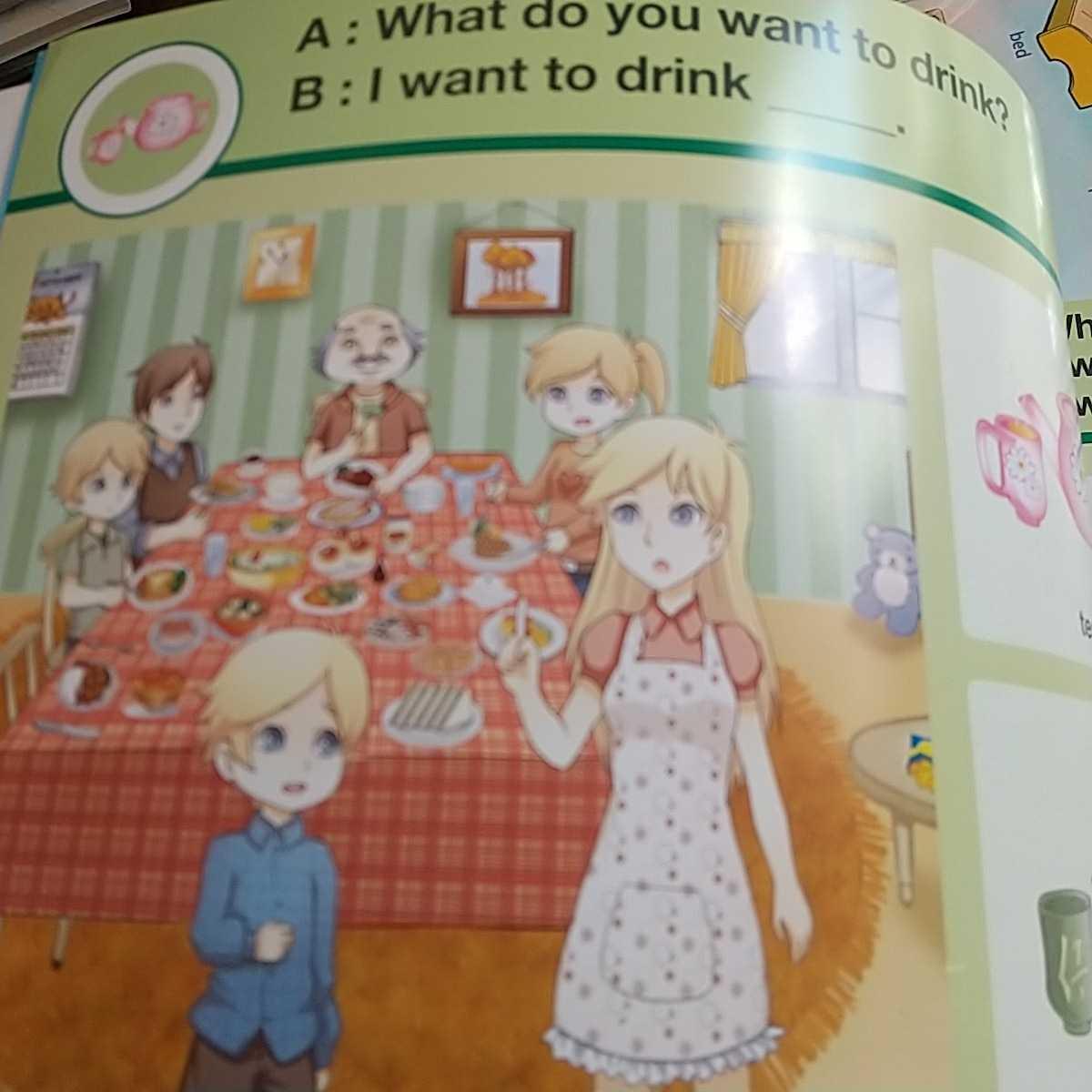 こども英語教材セット★DIALOGUE BOOKⅡ・アルファベットぬりえ・シール_画像3