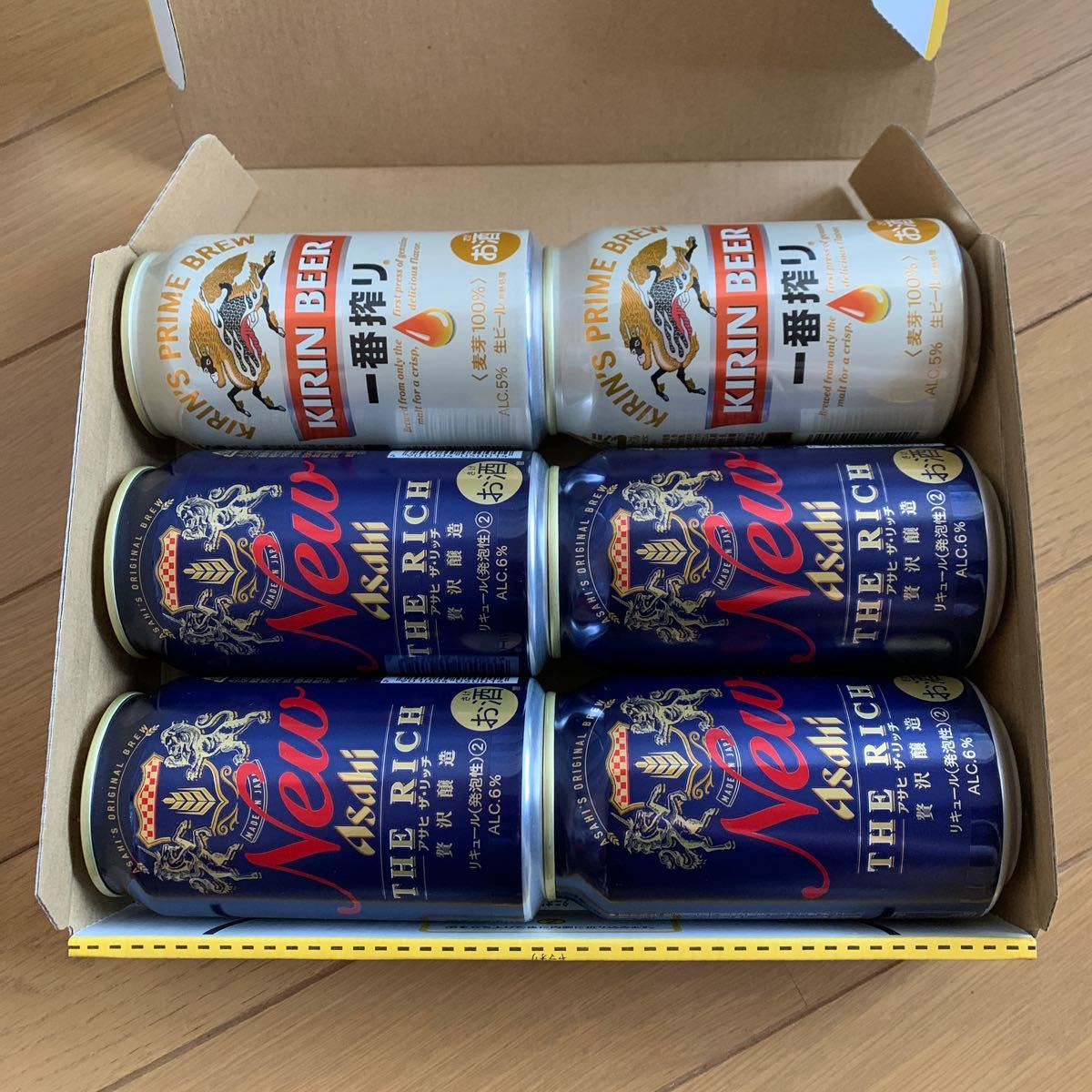 ビール詰め合わせ アサヒザリッチ キリン一番搾り 6本  350ml