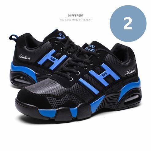 男性 トレーナー 通気性 スニーカー 男性 靴 成人 ファッション カジュアル シューズ エアクッション 黒 赤 青 メンズ_画像3