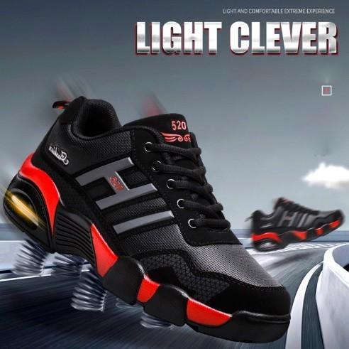 男性 トレーナー 通気性 スニーカー 男性 靴 成人 ファッション カジュアル シューズ エアクッション 黒 赤 青 メンズ_画像1
