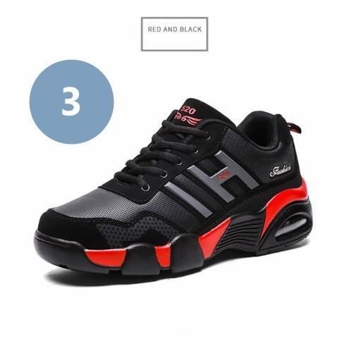男性 トレーナー 通気性 スニーカー 男性 靴 成人 ファッション カジュアル シューズ エアクッション 黒 赤 青 メンズ_画像4