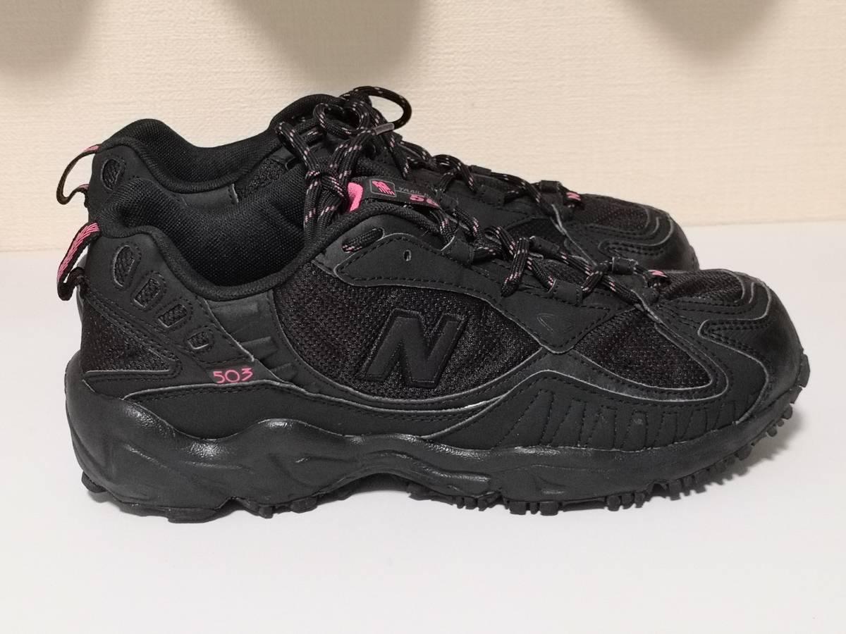 美品 New Balance ニューバランス 503 WT503BK2 25.0cm トレッキング ウォーキング シューズ 女性用 women's 登山 TNF メレル サロモン