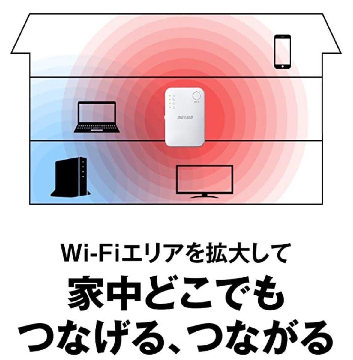 WiFiエリア拡大【美品・30日保証】コンセント直挿しタイプの無線LAN中継機ハイパワーコンパクト★WEX-1166DHPS