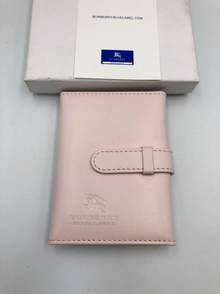 バーバリー ブルーレーベル カードケース ピンク×ゴールド 未使用品 定期入れ 名刺入れ BURBERRY
